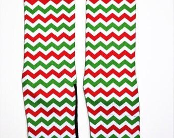 Christmas Chevron and Lace SectorApparel Socks