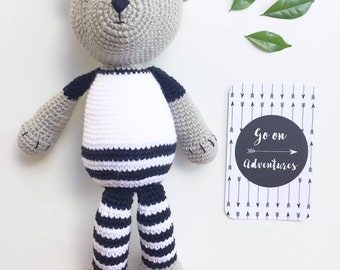 Made to order - Crocher Hispter Teddy Bear