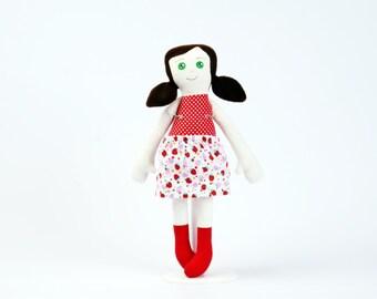 Textile doll Soft doll Soft toy for girl Ballerina doll Handmade doll Fabric doll Rag doll Cloth doll Soft cute doll Stuffed doll