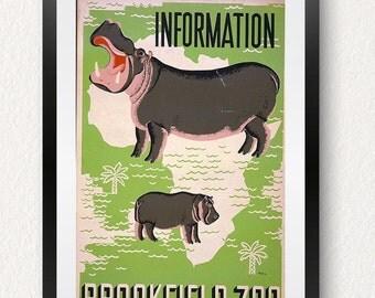 HippoGreen 8X10 PRINTABLE BrookField Zoo