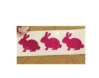 Rabbit Stickers, Bunny Rabbit Stickers, Bunny Stickers, Baby Shower Stickers, Foil Stickers, Easter Stickers, Rabbit Envelope Seals