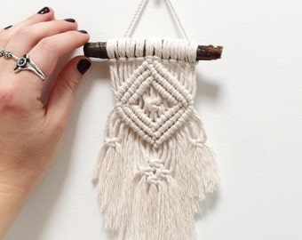 Mini Macrame Diamond Wall Hanging