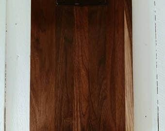 Restaurant Wooden Clipboard Menu Walnut, Large