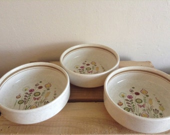 Vintage, Lenox Sprite Bowls, Temper-ware, flower design,