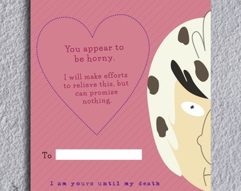 Rick and Morty Bird Person Valentine's Day Note