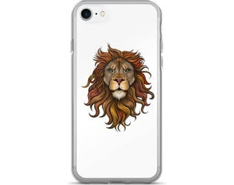Lion iPhone Case, Phone Case Lion, Lion Phone Case, Protective iPhone Case, iPhone 7 Case, iPhone 6 Case, iPhone 5 Case, Lion Lover, Animal