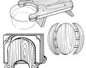 Modern Set Kitchen Helpers #309 - Woodworking / Craft Pattern