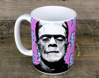 Frankenstein Monster MUG coffee GOTH Monster Mania classic movies gifts for horror lovers boyfriend gift girlfriend gift monsters Wedding