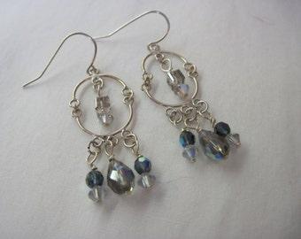 French Grey Earrings
