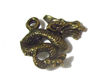 Chinese Dragon Charms x 10