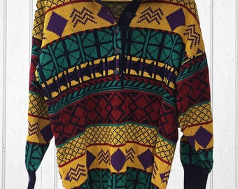 Snap colourful vintage retro sweater