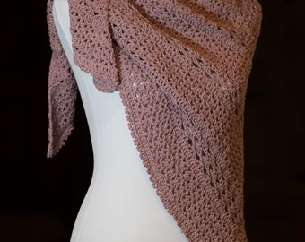 Women's Crocheted Triangle Shawl | Lightweight Scarf | Spring Transition Accessory