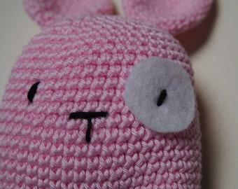 Pink Bunny amigurumi Ydekado handmade gift idea