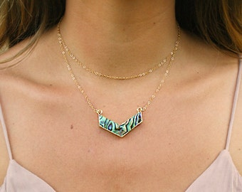 Reversible Iwi Necklace- (Abalone & Mother of Pearl)