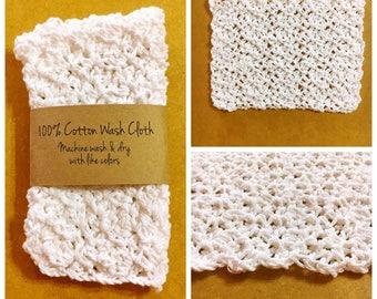 Eco Friendly Washcloths / Washcloth / Cotton Washcloths / Crochet Washcloth / Eco Friendly Dishcloths / Crocheted Washcloths / Eco Washcloth