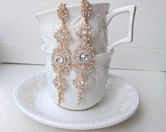 Bridal rhinestone earrings - Estelle