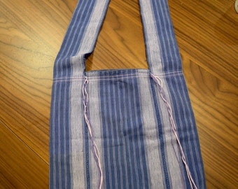 Thai Denim Blue Cross Body Bag