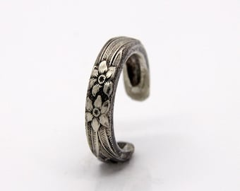 Spoon Ring - Size 4 - Hand Bent By The CrafsMan - Steady Craftin'