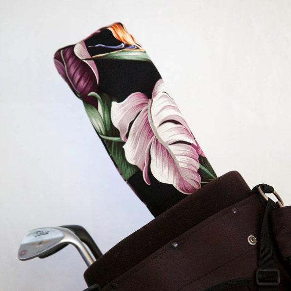 Sale! Golf Club Covers, Golf Head Covers, Golf Driver Head Cover, Golf Headcover, Golf Accessory, Nani! Hawaiian Barkcloth Golf Driver Cover