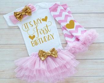 1st Birthday Girl, First Birthday Girl Shirt, Baby Girl Birthday Announcement, Birthday Bodysuit, Princess Birthday Outfit, Birthday Gift