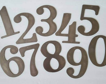 """Set of Four 7.25"""" House Numbers. Large Metal House Numbers. Large House Numbers. Metal House numbers. Home Decor. Metal Art.  Ready to Ship!"""