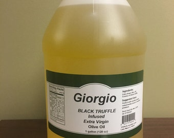 Black Truffle Infused Extra Virgin Olive Oil, Bulk 1 Gallon