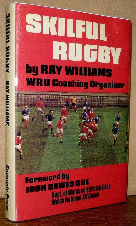 Skilful Rugby 1977 Ray Williams Welsh Rugby Union WRU Sports Training Hardcover HC w/ Dust Jacket DJ