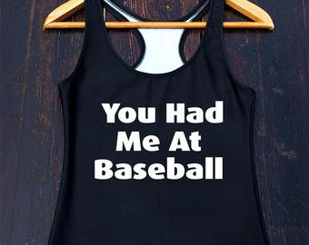 Cute Baseball Tank Top - funny baseball tanktop, baseball mom shirt, funny baseball shirt, baseball fan top, funny baseball gifts, teen gift