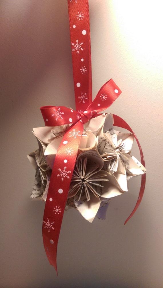 handmade vintage origami bauble