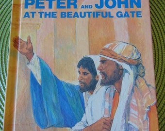 Peter and John at the Beautiful Gate , 1984 , Leonard Matthews ,   Now You Can Read Bible Stories , OOP
