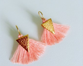 Earrings Pink salmon Josephine