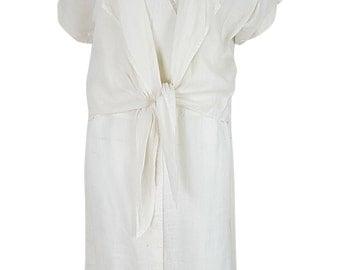 GUCCI Vintage White Linen Shift Dress (44)