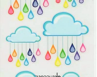 Rain Clouds Sticko Scrapbook Stickers Embellishments Cardmaking Crafts