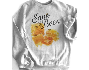 bee shirt, bees, bumble bee, SAVE THE BEES, honey bee, honey, comb, honey bees, queen bee, honeycomb, Save the hive, & Plus size!