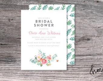 Printable Bridal Shower Invitation - Spring Floral