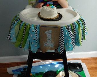Highchair Fabric Rag Banner - 1st birthday