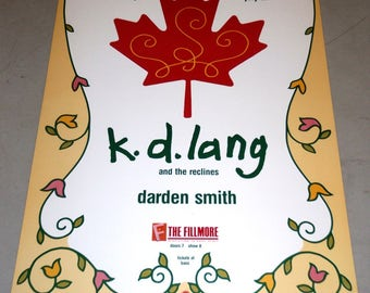 K.D. Lang and the Recliners, Darden Smith @ The Fillmore July 27, 1988