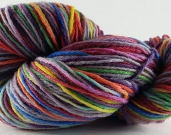 Zombie Rainbow - 100% Superwash Merino SW Worsted Hand Dyed Yarn