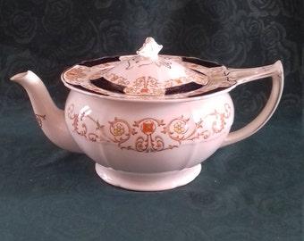 ALFRED MEAKIN golden glory Zenith shape Tea Pot Large  tea pot  c1892