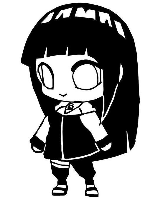 Vinyl Decal Sticker - Hinata Hyuga Chibi decal inspired by Naruto for Windows, Cars, Laptops, Macbook etc