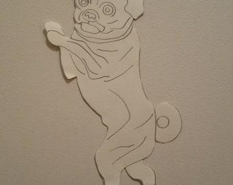 Personalised Pug Pattern 3