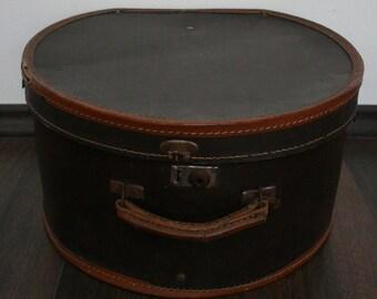 Vintage Leather Hat Box