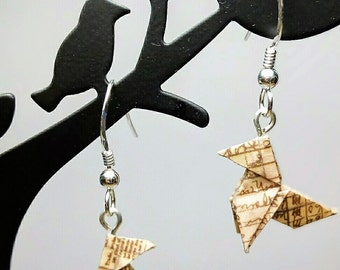 "Origami earrings-bow / / Origami ""bow-tie"" earrings"