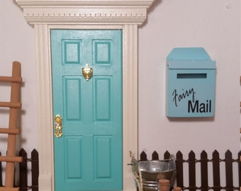 Opening Fairy Door Kids, in Turquoise. Kids Tooth Fairy Door. Boys or Girls. Available in ANY color!!!!!
