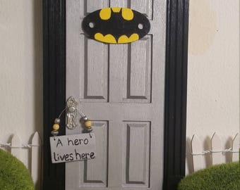 Boys Tooth Fairy Door Superhero Door Batman! Fairy Doors for Boys Elf & Tooth fairy door | Etsy pezcame.com