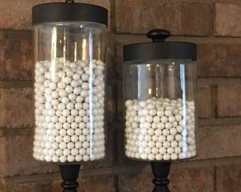 Vintage-Style Candy Jar Pair