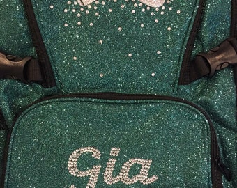 Customized 3-4 letter name Glitter Nfinity Backpack