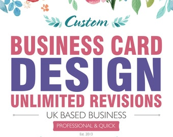 Business Card Design, Retro Business Card, Visiting Card, Luxury Business card, Custom Business Card, Calling Card, Front & Back Card