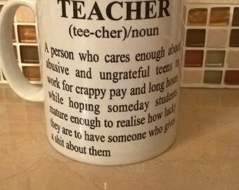 Teacher Definition Mug - Novelty, Teacher Gift, Secondary School, Teacher Training, Honest, Teacher life, Gift