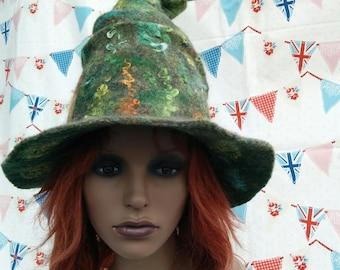 Green Goddess Covert Witch Hat
